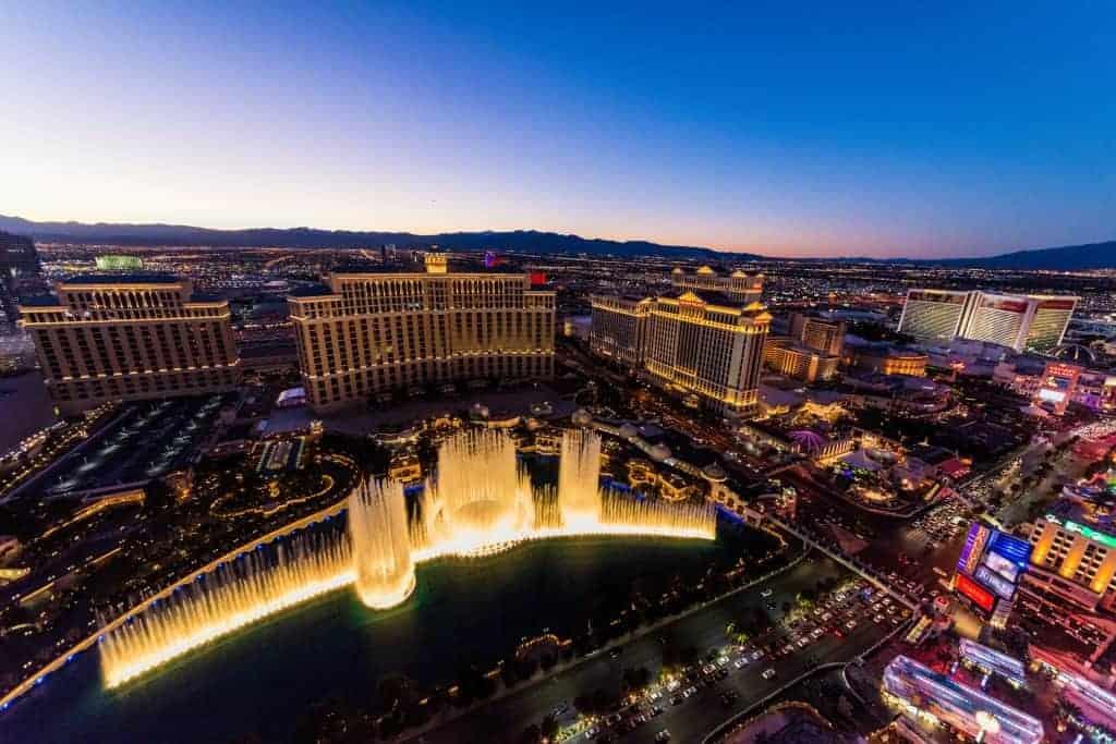Skyline las Vegas bei Nacht