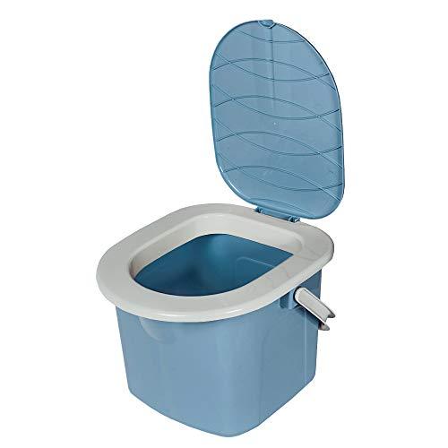 BranQ - Home essential Jungen Toilette BranQ Mobile Campingtoilette 15,5 Ltr. mit max. Tragkraft bis 120kg, Kunststoff BPA-freier PP, Hellblau, kleine Größe 31x31x28 (LxHxB), 15,5 L