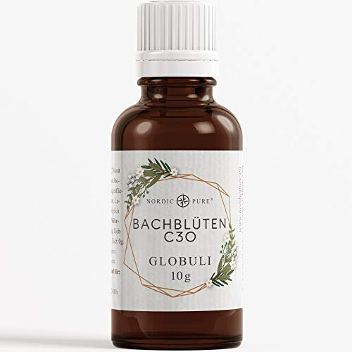 Nordic Pure Bachblüten Globuli | Dr. Bach Rescue Mischung Globuli | Homöopathischer Helfer für alle Fälle | Vegan